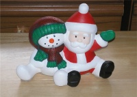 Snowman and santa